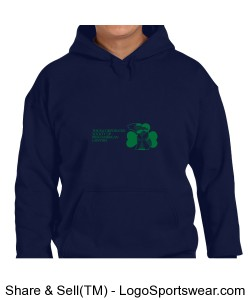 Gildan Blend Hooded Sweatshirt Design Zoom